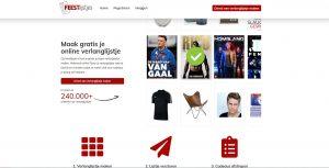 Feestlijstjes.nl screenshot