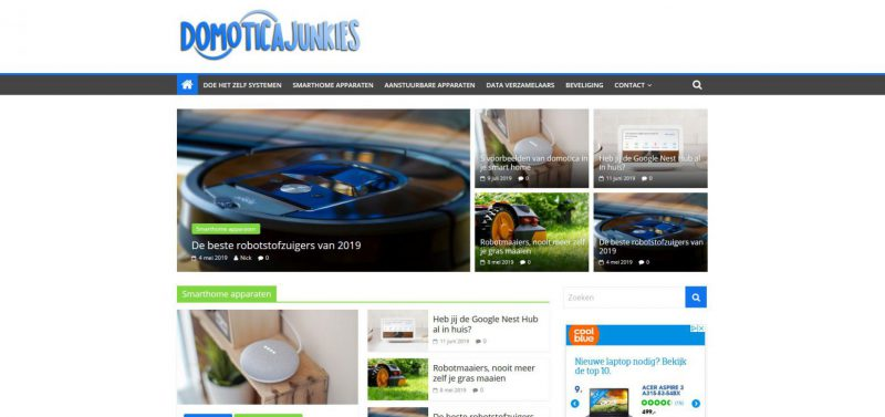 Domoticajunkies screenshot